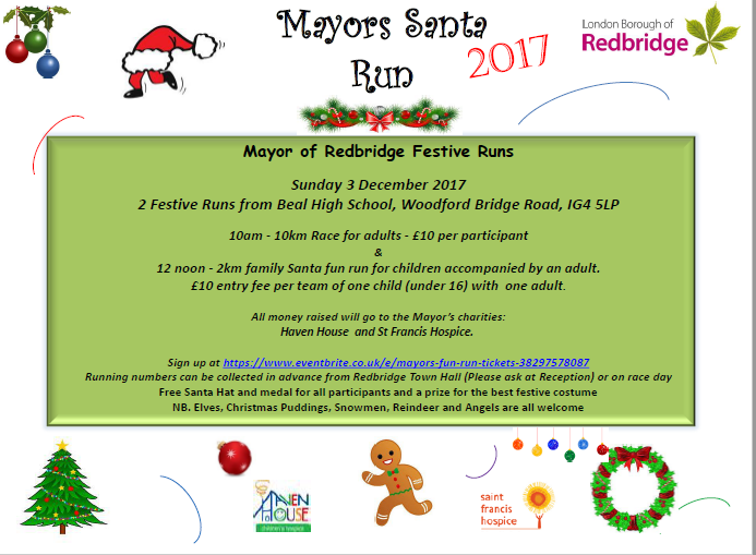 Mayors Santa Run 2017