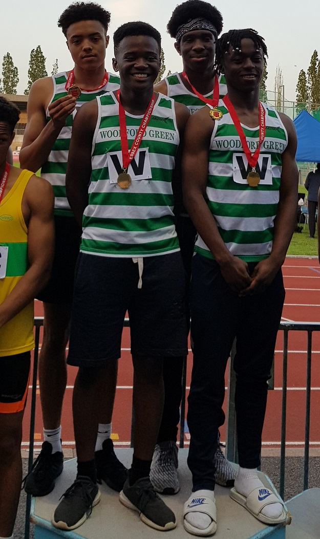 U17 men 4x100m Essex Gold